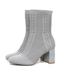 high, Woman, Knitting, Boots