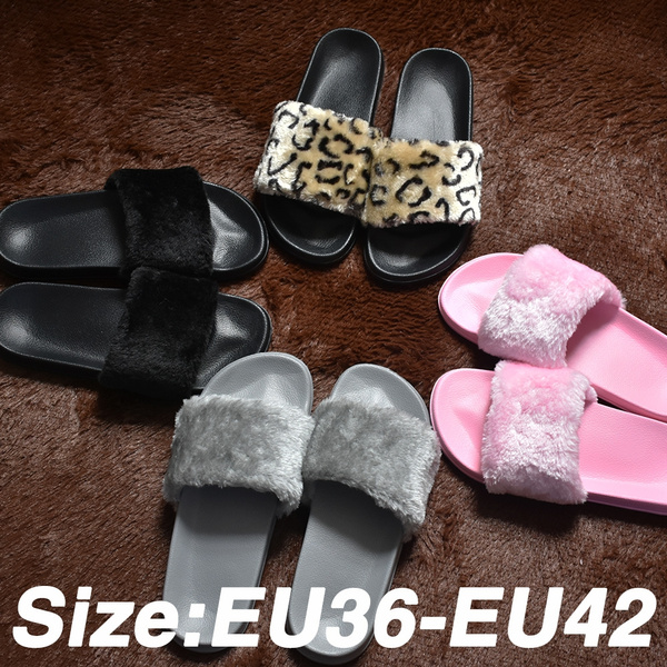 leopard print house slippers