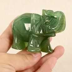 Decor, elephantstatue, jade, deskdecor