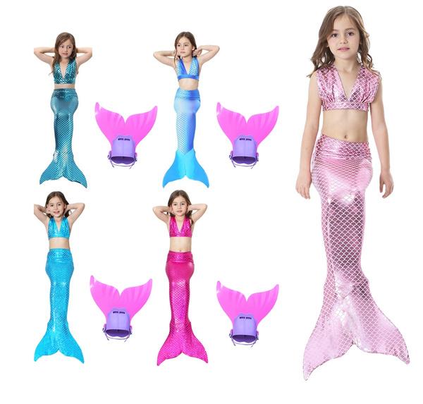 Costume Da Bagno A Coda Di Sirena Da Ragazza Con Monopinna Per Il Nuoto Costumi Da Bagno Colorati E Costumi Da Bagno Per Principessa Costumi Da Bagno Wish