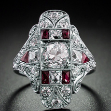 silver plated, ruby925ring, Jewelry, Silver Ring