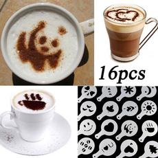 Coffee, stencil, art, coffeetool