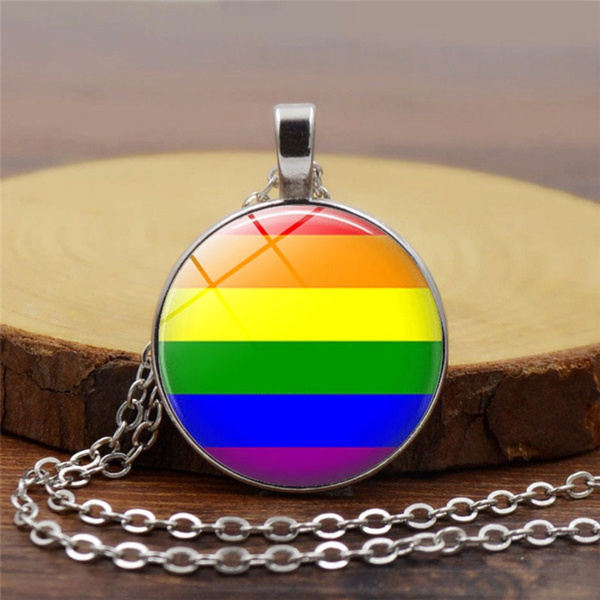 gaypridenecklace, gaynecklace, Jewelry, Chain
