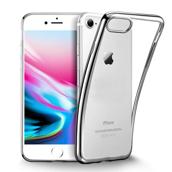 Coque iPhone 8, Coque iPhone7, iPhone 8 Housse Etui Transparente Silicone Gel TPU Souple Cover pour Apple iPhone X 8 7 6 6S Plus Samsung S9 S8 S7   ...