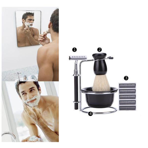beardshelf, Razor, Stainless Steel, shavingbrush