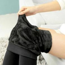 Women Pants, thickenlegging, Fleece, thickenfur