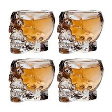 skull, Cocktail, Mug, Glass