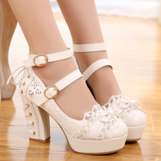 thickheel, Lace, Waterproof, Sweets