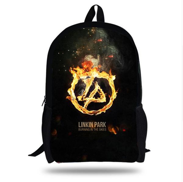 Children The Hunter Linkin Park Print Backpacks For Teenage Girls Large Capacity Satchel Laptop Bag D45 Wish