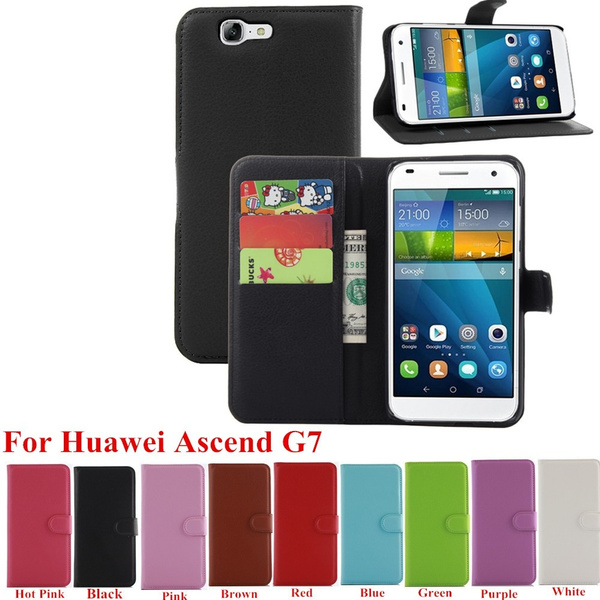 PU Leather Card Holder Phone Case Stand Wallet Flip Cover For Huawei Ascend G7 | Wish
