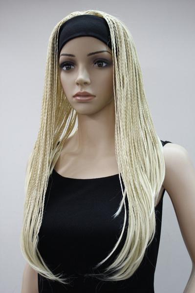 wig, Braids, women's wig, Bleach