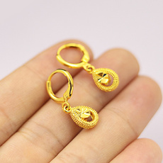 Copper, Fashion, gold plated earrings, retrostud