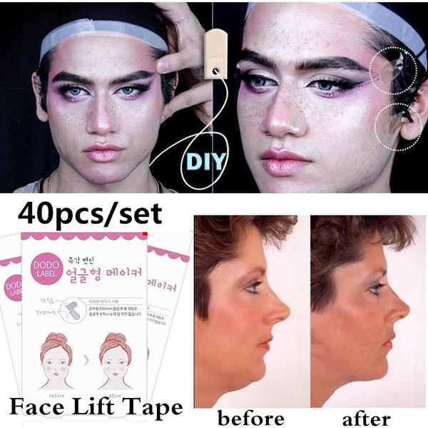 Makeup, Beauty tools, medicaltape, liftfacesticker