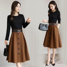 Waist, fashion dress, Dress, longsleeveddres