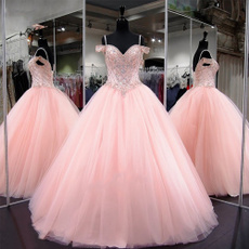 pink, gowns, Plus Size, sexy dresses