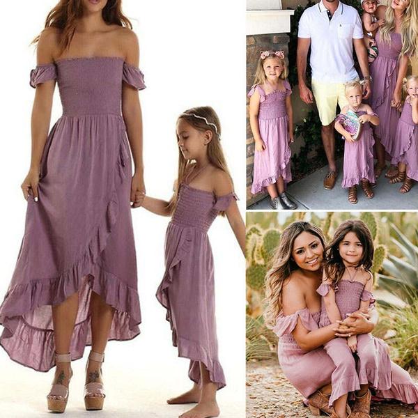 momanddaughterdres, Summer, strapless, familydres