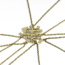 bestfriendnecklack, Jigsaw, friendshipnecklace, Jewelry