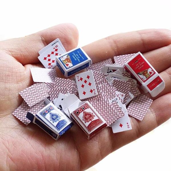 cute, Poker, Mini, Dollhouse