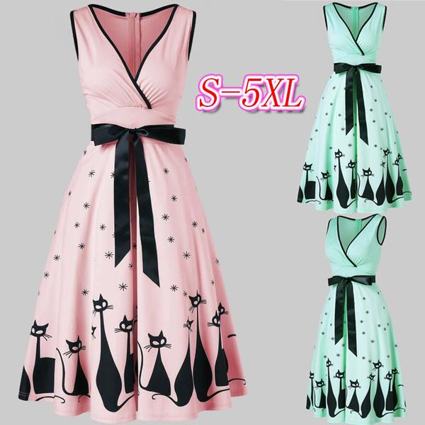 Pins, Deep V-neck Dress, plus size dress, Dress