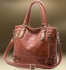 Shoulder, Genuine, bolsa, leather