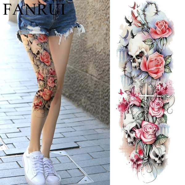 tattoo, Flowers, bodyartpainting, Sleeve