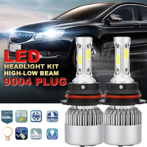 CREE 9004 HB1 LED Headlight Kit 1020W 153000LM Hi-Low Beam 6000K Car Light Bulbs