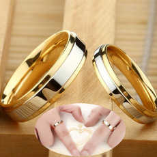 Couple Rings, Steel, wedding ring, gold