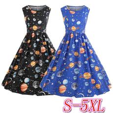 Swing dress, printeddres, Spring, polka dot