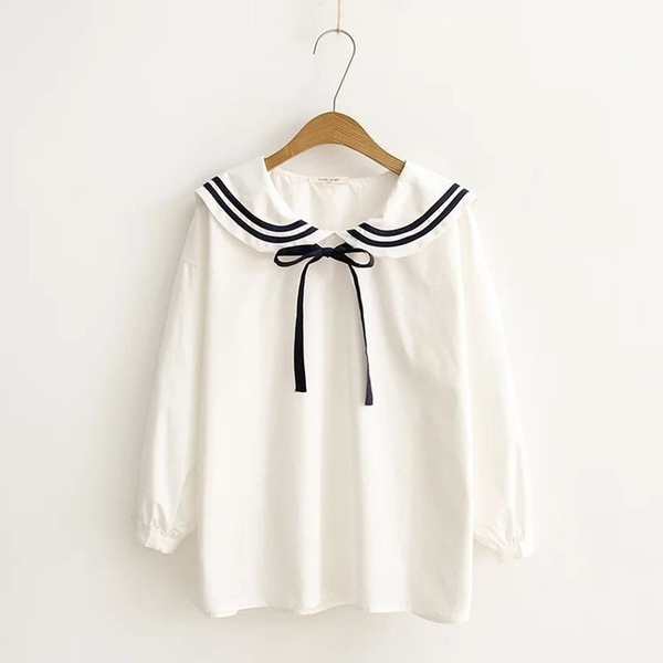 women shirt Blouse, womans blouses and t shirts, longsleevelolitablouse, Sweets