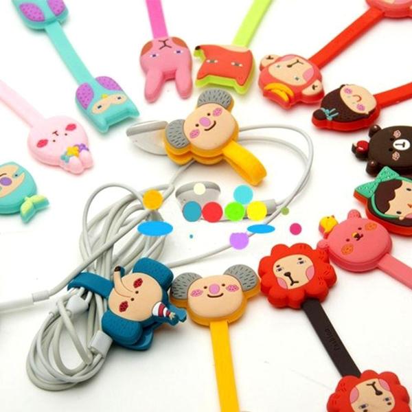 cute, Earphone, earphoneorganizer, cableorganizercartoon