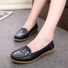 Flats, Genuine, Shoes, moccasin