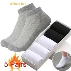 Funny, Cotton Socks, Elastic, whitesock