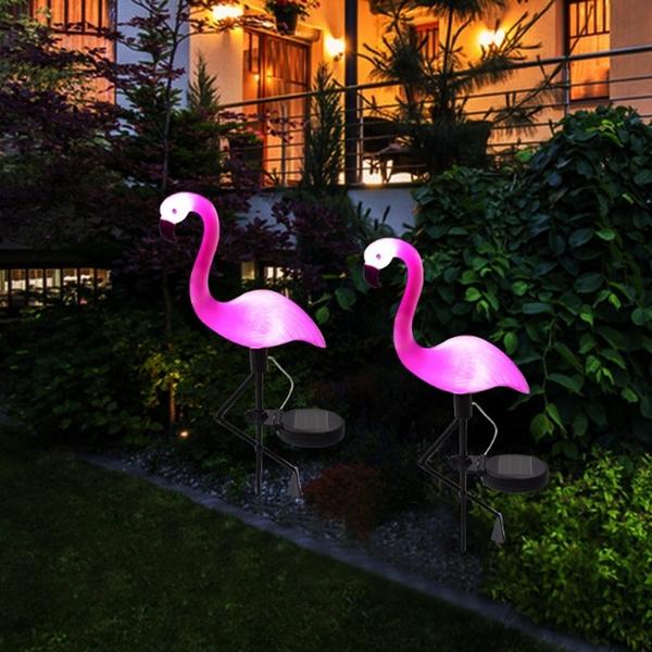 Lighting, flamingo, waterprooflight, Garden