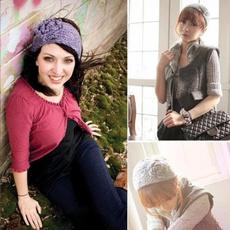 boho, knitted, Flowers, Winter