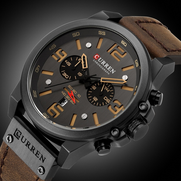 waterproofwatche, Clock, leather, fashion watch