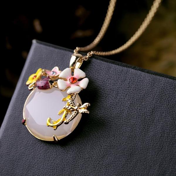 dragon fly, Flowers, Jewelry, enamel