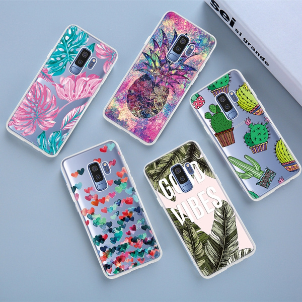 For Coque Samsung Galaxy S9 S9 Plus A6 A6 Plus A8 A8 Plus 2018 Case Silicone Soft TPU Painted Phone Cases For Samsung S9 Plus A6 A8 Plus 2018 S9 Case ...