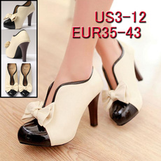 Fashion, Womens Shoes, Beige, leather