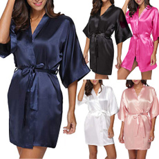 kimonorobe, bathrobewomen, Mini, kimonosatinfemme