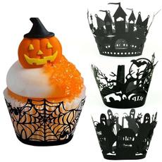 Laser, Halloween, wrapper, cupcake