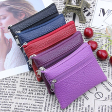 leather wallet, zipperpurse, puleathe, multifunctionalpurse