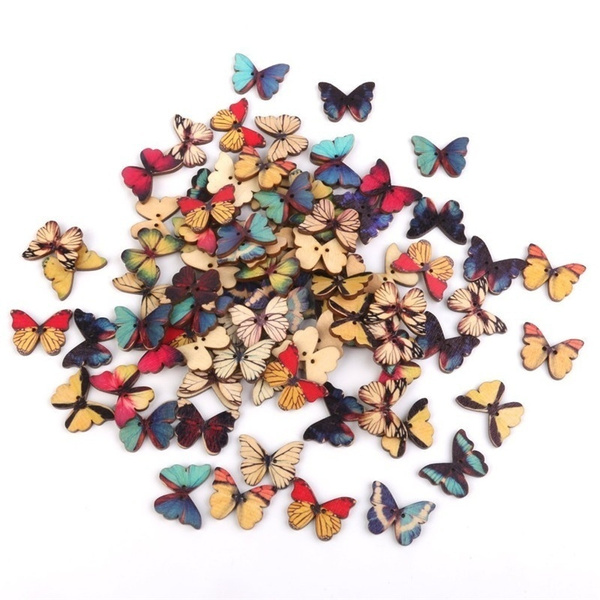 butterfly, sewingbutton, Scrapbooking, Colorful
