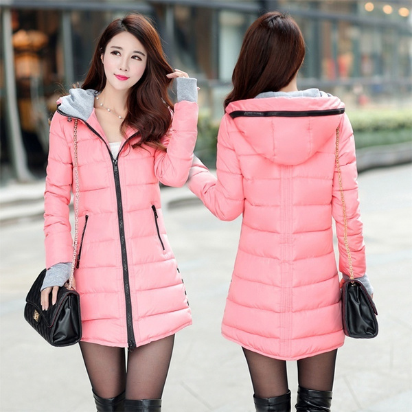 hoodedpuffercoat, padded, Plus Size, Winter