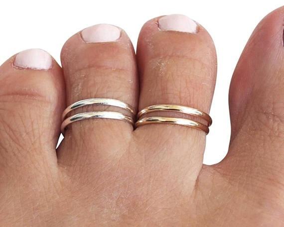 Sterling, doublebandring, silvertoering, gold