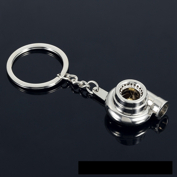 Whistle Sound Turbo Keychain Key Chain Ring Spinning Turbine Keyring Keyfob