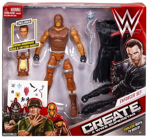 WWE Create a Superstar Dean Ambrose Enforcer Action Figure Set | Wish
