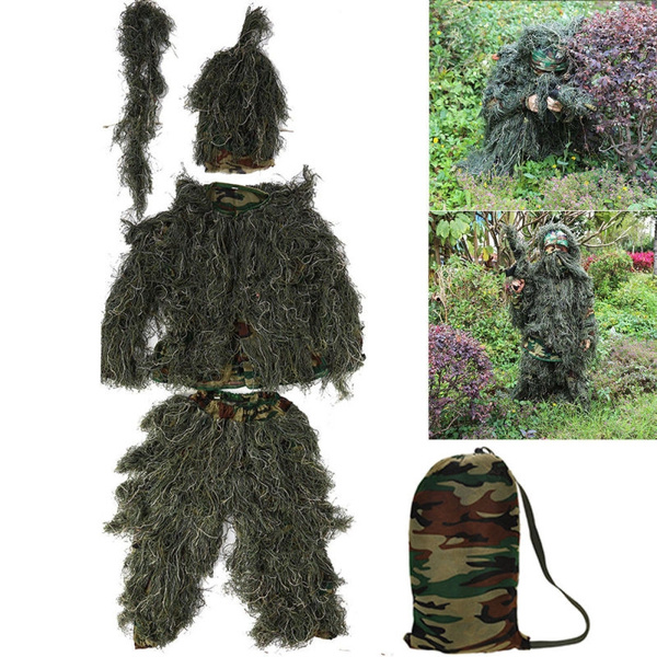 Polyester, Fashion, snipersuit, camouflagewoodlandsuit