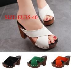 thickhihgheel, Sandals, Womens Shoes, Heels