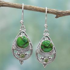 Turquoise, Jewelry, Sterling Silver Earrings, Elegant