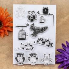 Card, Owl, diyscrapbook, embossingfolder